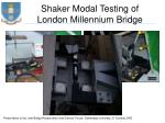 shaker modal testing of london millennium bridge