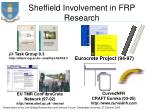 sheffield involvement in frp research