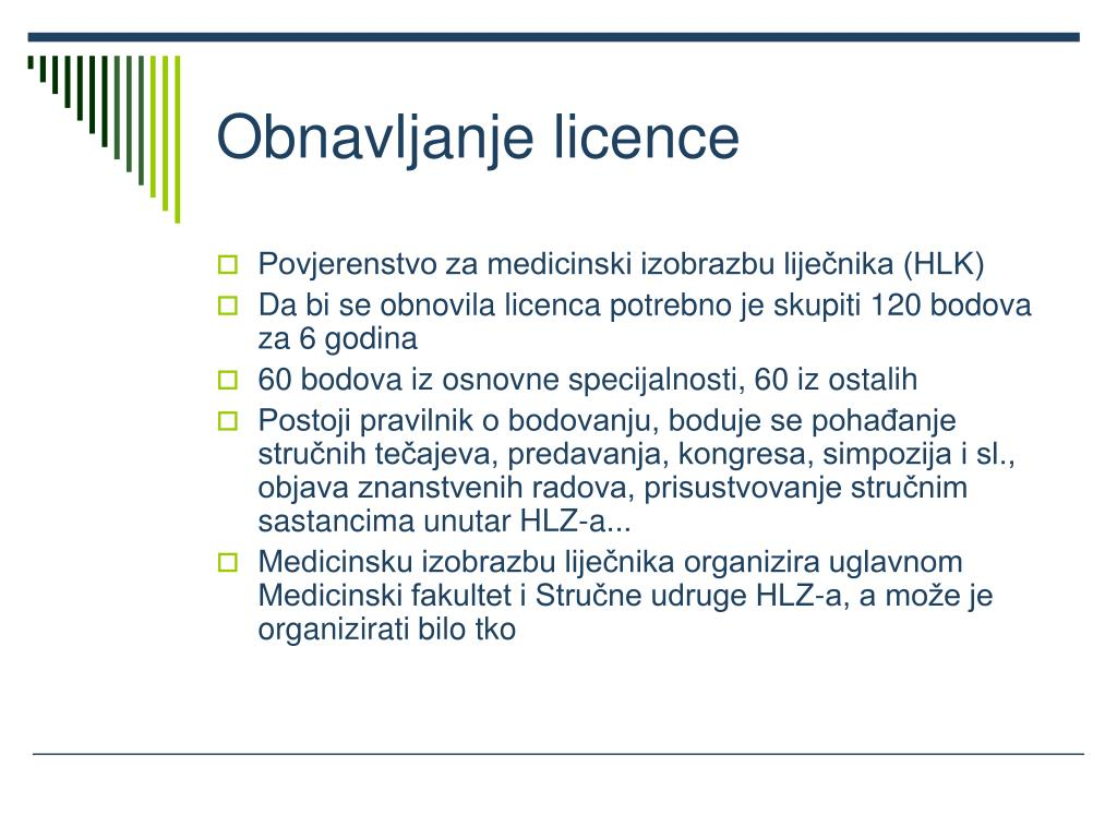 Obnavljanje licence