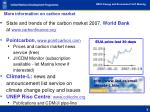 more information on carbon market