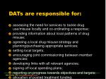 dats are responsible for