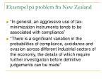 eksempel p problem fra new zealand