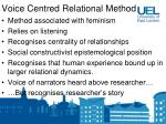 voice centred relational method