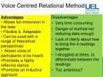 voice centred relational method21