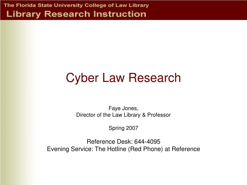 cyber law research l.