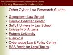 other cyber law research guides