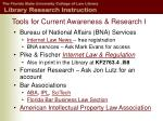 tools for current awareness research i