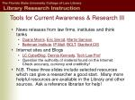tools for current awareness research iii