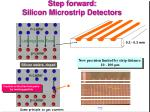 step forward silicon microstrip detectors