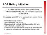 ada rating initiative
