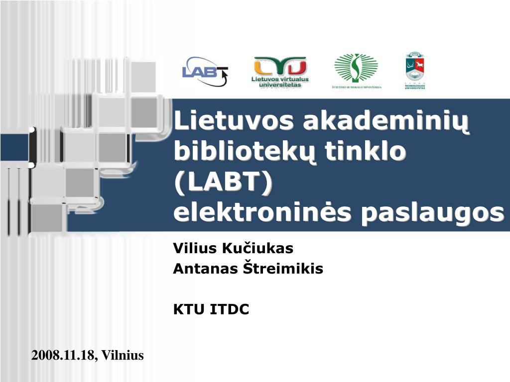 lietuvos akademini bibliotek tinklo labt elektronin s paslaugos l.