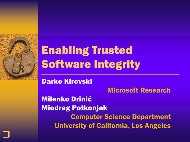 enabling trusted software integrity n.
