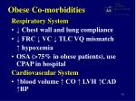 obese co morbidities