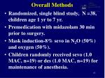 overall methods