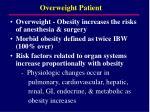 overweight patient