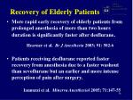 recovery of elderly patients