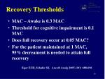 recovery thresholds