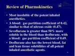 review of pharmokinetics