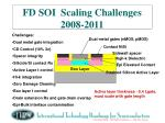 fd soi scaling challenges 2008 2011