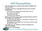 fep thermal films