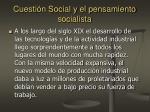 cuesti n social y el pensamiento socialista