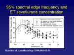 95 spectral edge frequency and et sevoflurane concentration