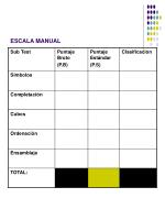 escala manual