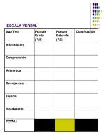 escala verbal
