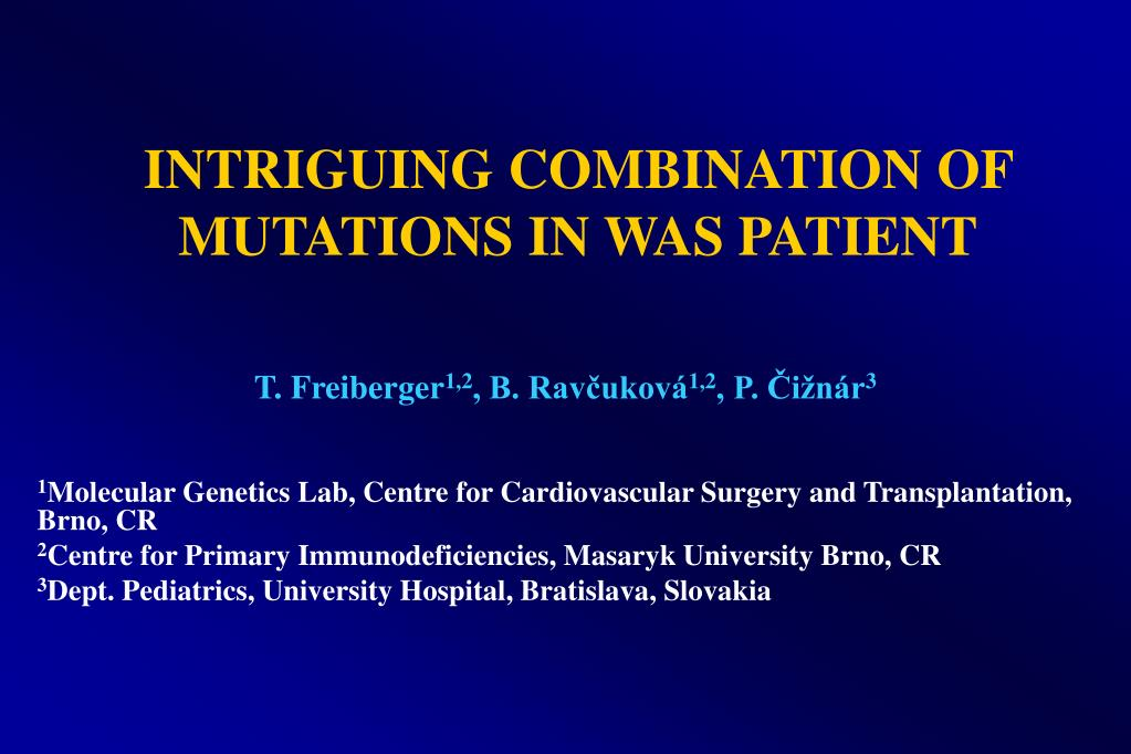 intriguing combination of mutations in was patient l.
