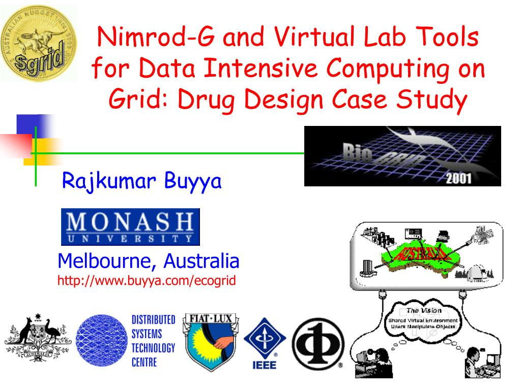 nimrod g and virtual lab tools for data intensive computing on grid drug design case study l.