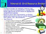 nimrod g grid resource broker