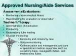 approved nursing aide services