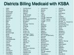districts billing medicaid with ksba