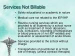 services not billable