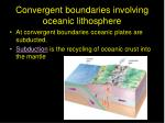 convergent boundaries involving oceanic lithosphere
