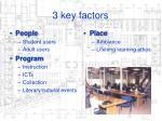 3 key factors