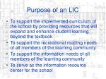 purpose of an lic