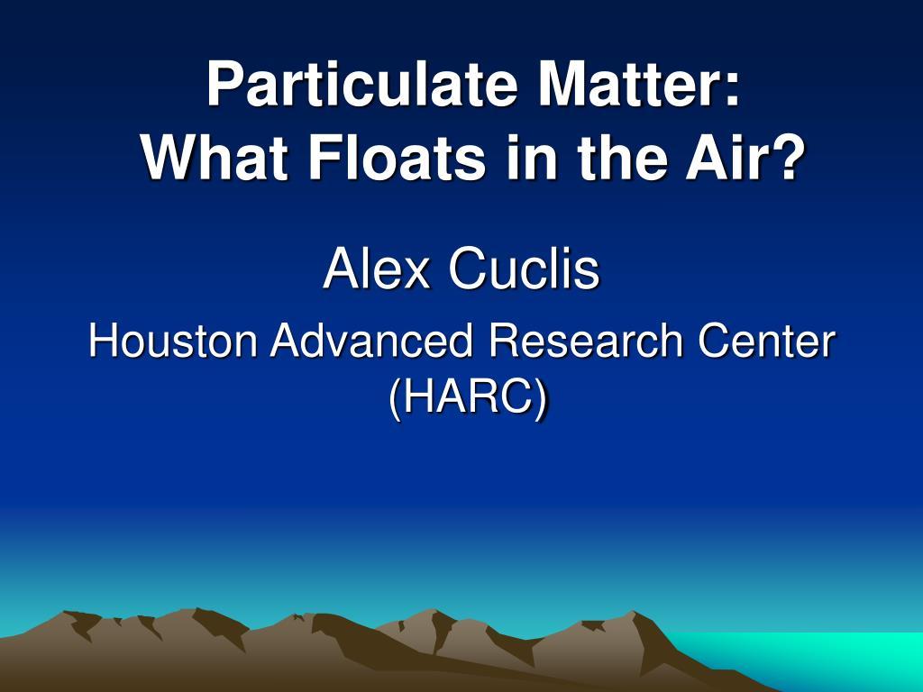 alex cuclis houston advanced research center harc l.