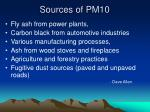 sources of pm10
