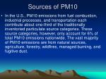 sources of pm109