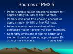 sources of pm2 5