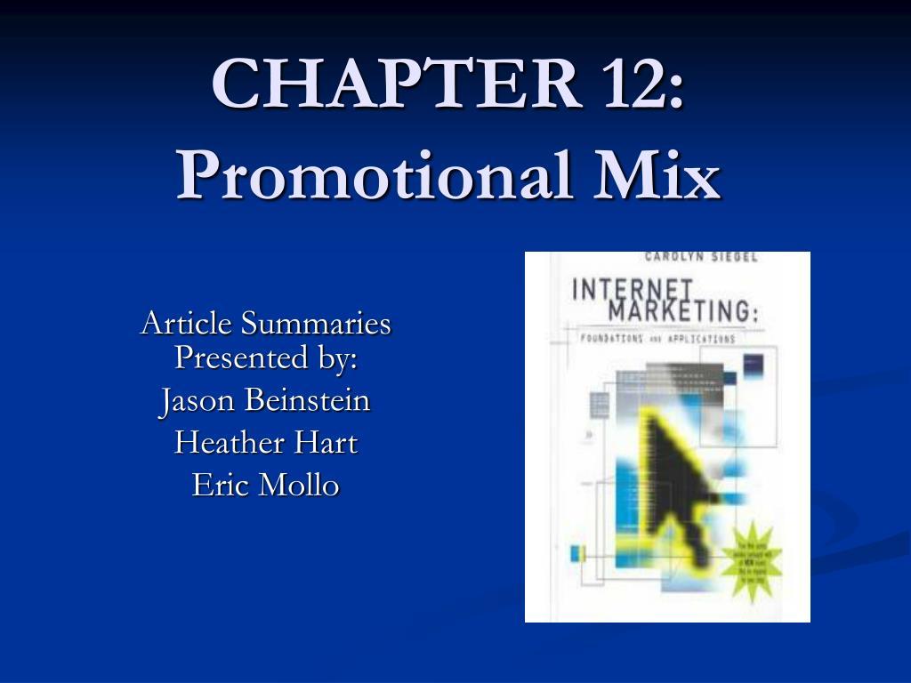 chapter 12 promotional mix l.