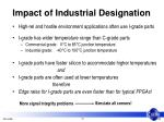 impact of industrial designation