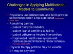 challenges in applying multifactorial models to community