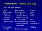 interventions medical therapy