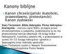 kanony biblijne