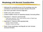 morphology with darwish transliteration