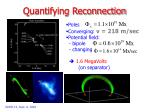 quantifying reconnection20