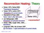 reconnection heating theory