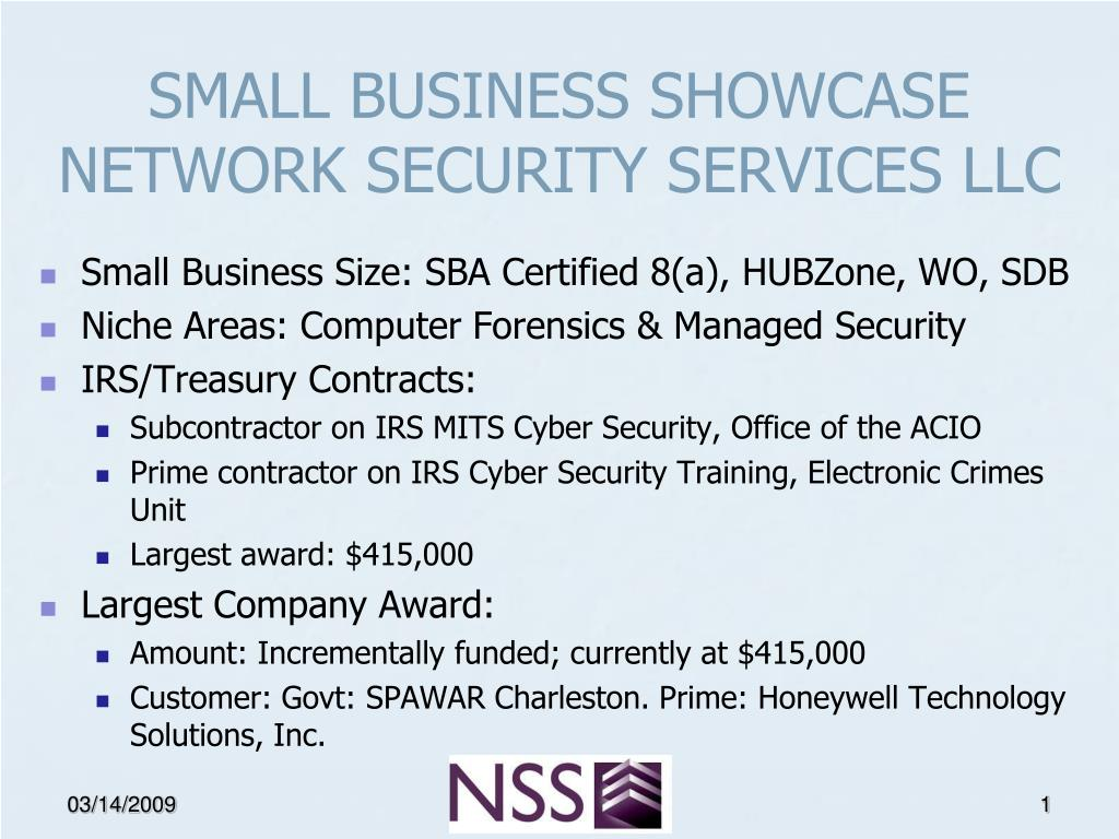 small business showcase network security services llc l.
